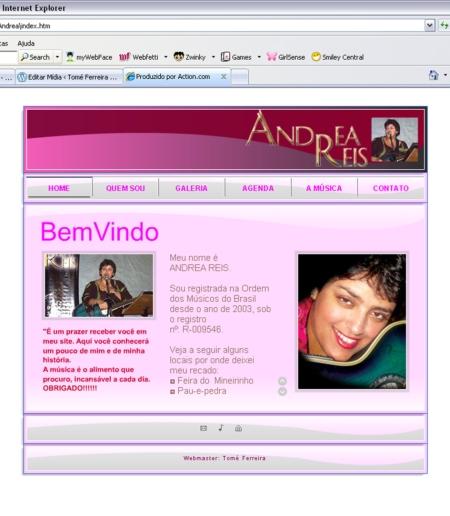 Cliente: Andrea Reis - Artista